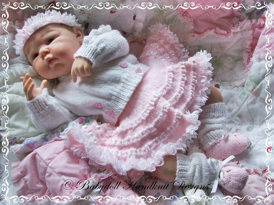'Baby Ballerina' Outfit 16-22 inch doll/0-3m baby-knitting pattern, doll, baby, ballet, ballerina, tutu