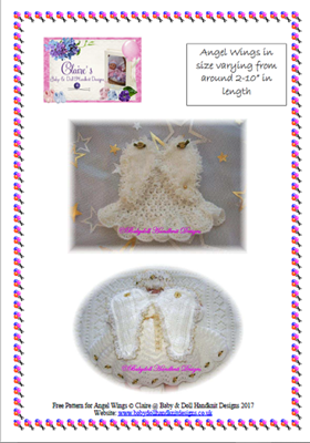 Free Angel Wings pattern for Angel Baby Memento Boxes