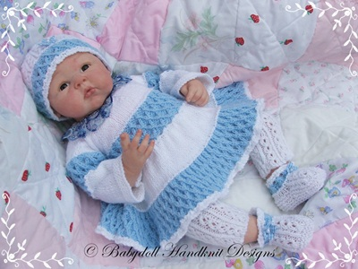 Layered Dress Set 16-22 inch doll/0-3m baby