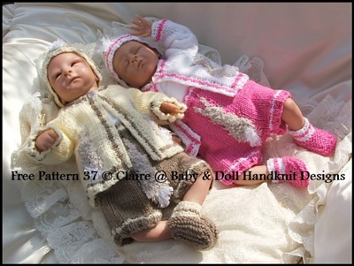 FREE Bunny Motif Set 10-16 inch dolls/preemie boys and girls