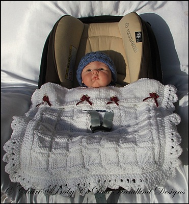Simple Chunky (Bulky) Car Seat Blanket with Edging
