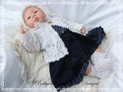 Lacy Christmas Set 16-22 inch doll/0-3m baby