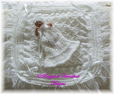 Christening Gown Set with shawl 4-7 inch dolls