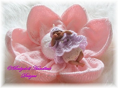 Flower Fairy crib and outfit 4-5 inch dolls-4, 5 doll, flower, fairy, angel top, pants