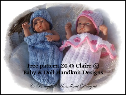 FREE Cocoon & Slouchy Beanie Pattern 9-12 inch dolls