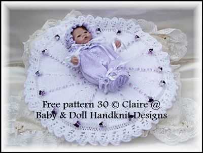 FREE Shawl & Snuggly 8-12 inch doll