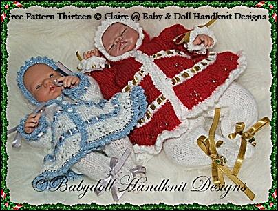 FREE Snowflake Patterned Hooded Coat & Leggings 8-13 inch dolls