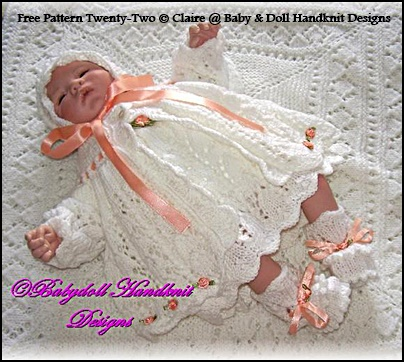 "FREE Rosebuds and Butterflies 16-18"" doll/newborn baby"