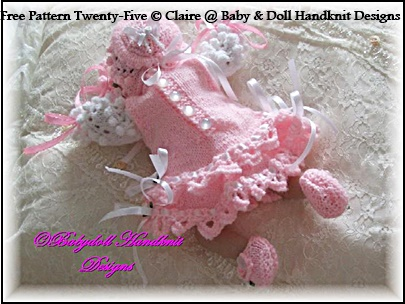 "FREE Frilly Pinafore Set 8-13"" dolls"
