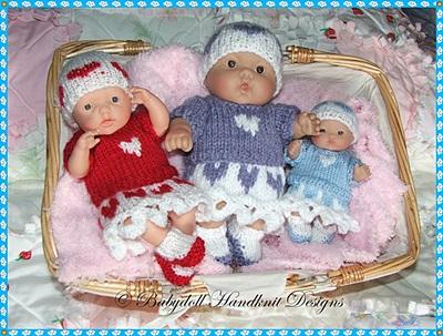 Heart Motif Set 5-8 inch Berenguer dolls