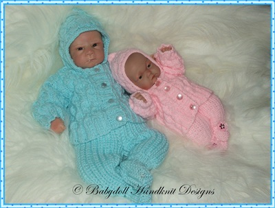 Hooded Suit 9-14 inch doll