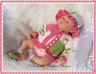Summer Jacket & Sunhat Set 16-22 inch doll/0-3m baby
