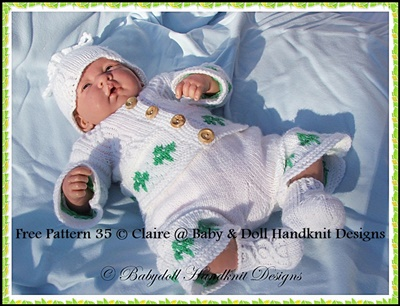 FREE 'Baby Leprechaun' Suit 16-22 inch doll/0-3m baby