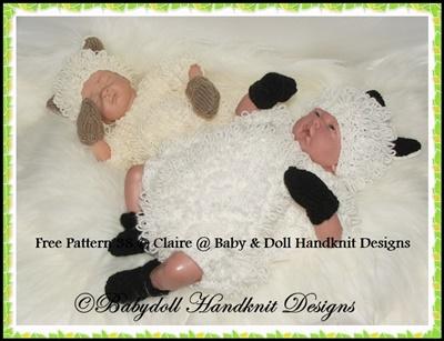 FREE 'Little Lamb' Romper set 10-16 inch dolls
