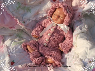 Oyster Pattern Suit for 8-13 inch dolls