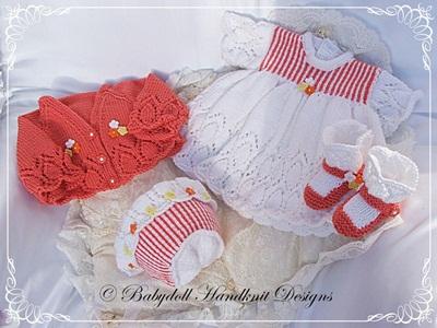 Pinstripe Dress Set 16-22 inch doll/0-3m baby