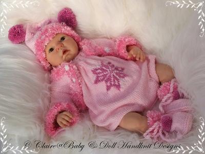 Winter Romper set 19-22 inch doll/0-3m baby