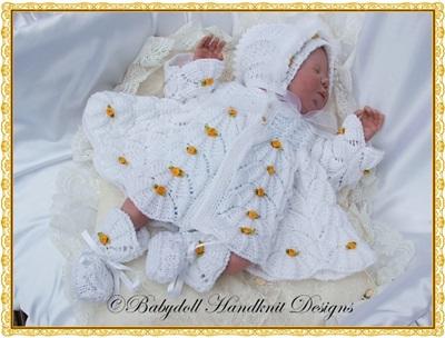 Parasol Stitch Pram Set 16-22 inch doll/0-3m baby