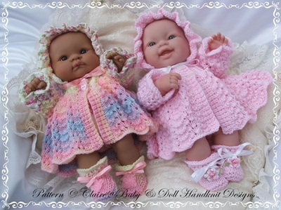 Traditional Matinee Set for 14 inch 'Lots to Love' Berenguer Doll