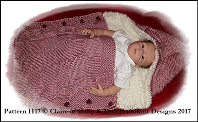 Sleeping Bag/Snuggle Sack to fit 0-6m baby or 18-24 inch doll
