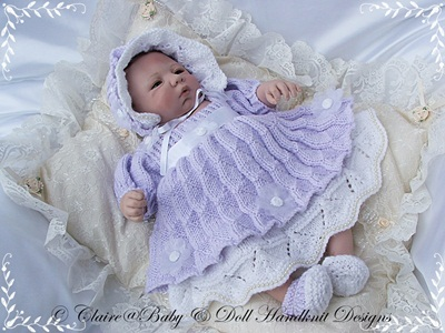 Two-layered Dress Set 14-17 inch doll