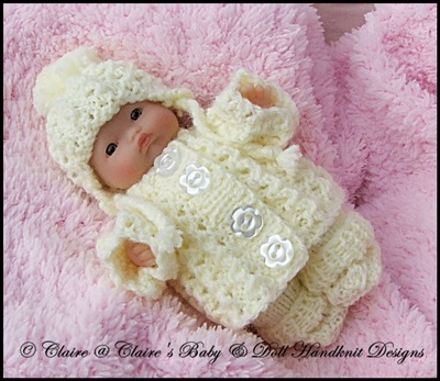 Cosy Chunky Style Pram Suit 5 & 8 inch Chubby Berenguer dolls