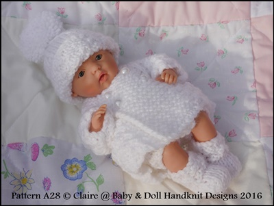 Winter Coat Set 4-8 inch Dolls