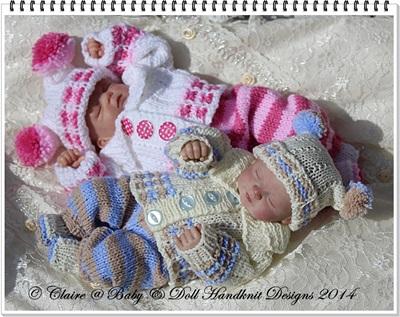 Cosy Autumn Suit 8-13 inch dolls