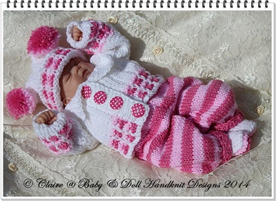 Cosy Autumn Suit 8-13 inch dolls