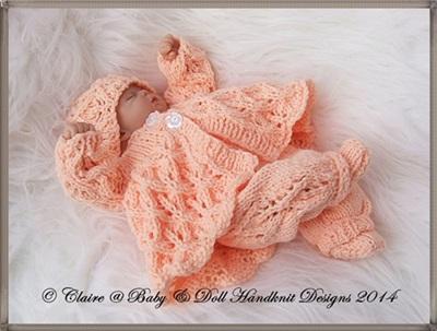Lacy Winter Pram Set 7-12 inch doll