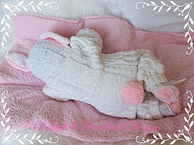 Bunny/Teddy All-in-one 17-23 inch doll/newborn/0-3m baby