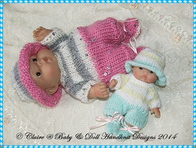 Summer All in One Set for 5 & 8 inch Chubby Berenguer dolls