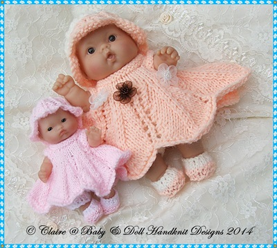 Flower Fairy Dress Set 5 & 8 inch Berenguer Doll