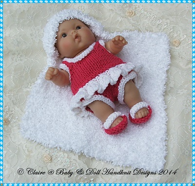 Day at the Beach Set for 5 & 8 inch Chubby Berenguer dolls