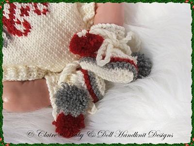 Snowflake Motif Christmas Romper Set 10-16 inch doll