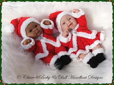 Santa Outfits for 14 inch Lots to Love Berenguer Dolls