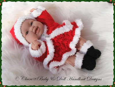 Santa Outfits for 14 inch 'Lots to Love' Berenguer Dolls