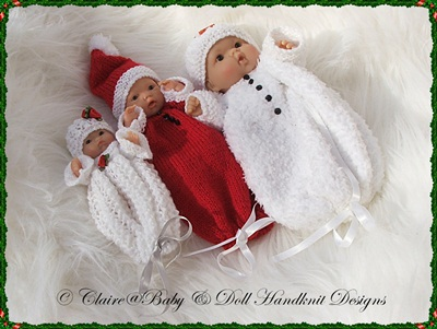 Christmas Buntings 5-8 inch Berenguer Dolls