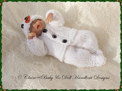 Snowman Suit 4-7 inch doll