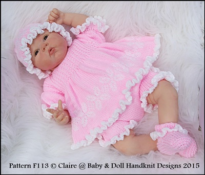 Frilly Edged Angel Top Set 16-22 inch doll/prem- 3m+ baby