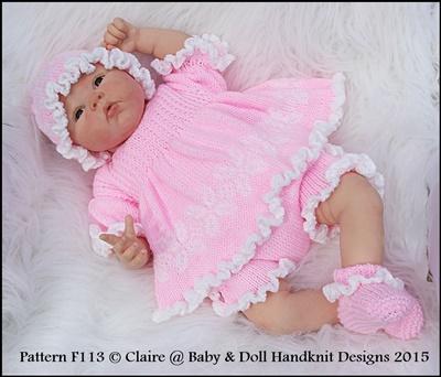 Frilly Edged Angel Top Set 16-22 inch doll/prem- 3m+ baby