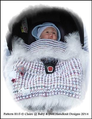 Chunky Balloon Motif Car Seat Blanket