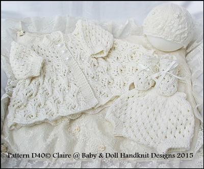 Dots and Daisies Matinee Set 13-18 inch doll (tiny preemie-newborn)