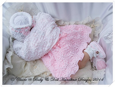Lacy Dress & Shrug Set 16-22 inch doll