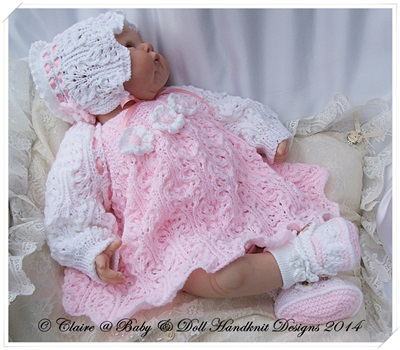 Lacy Dress & Shrug Set 16-22 inch doll