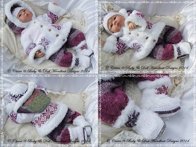 'A Bit random' Coat Set 19-22 inch doll or newborn-3m+ baby