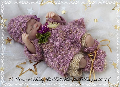 Lacy Baubles Angel Top Set for 10-16 inch doll/preemie baby
