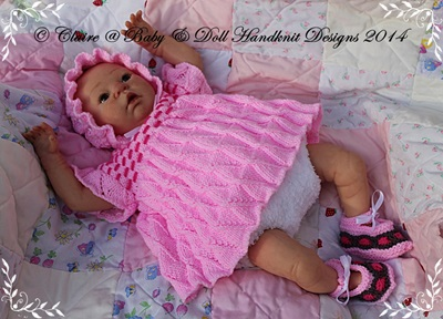 Angel Top Mix n Match Pattern 19-22 inch doll/0-3m baby