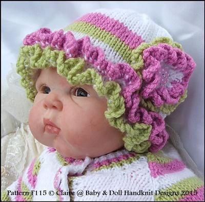 Coloured Summer Set 16-22 inch dolls/prem-3m+ baby