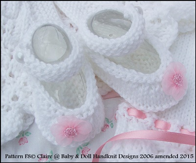 Feathered Lacy Coat Set 16-21 inch doll/0-3m baby